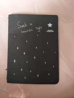 Small Black Paper Book