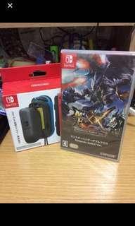 (全新)任天堂 Switch Monster Hunter 送 外置手制充電