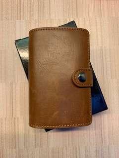 Faux leather minimalist wallet