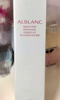 Sofina Alblanc medicated whitening Essence EX activate mousse 活氧鑽亮精華