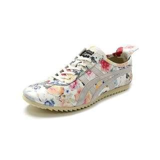 Onitsuka Tiger Floral Leather Shoes Sneakers Hand Made in Japan