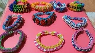 Loom band bracelets 2 to 3 layers