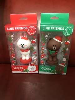 Line friends 熊大兔兔印章一對