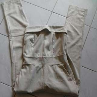 Cream Jumpsuite