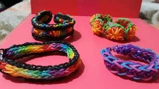 Loombands 4 to 5 layers