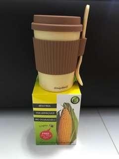 Honeyworld Corn Based Cup and Spoon Set