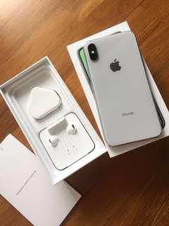 Almost brand new iPhone X Silver 64GB