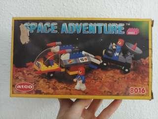 Vintage 1988 Space Adventure Atco 8016 Building Blocks