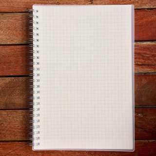 Muji Inspired A5 Grid Notebook (with rope)