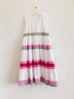 8 to 12 years old Chateau de Sable pink red white dress