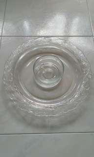 Indonesia Glass Fruit Plate and Bowl 印尼水果盘