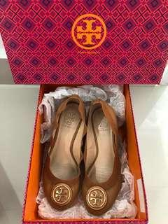 1ceb332a516a8 Authentic Tory Burch Caroline Wedges Shoes - Royal Tan