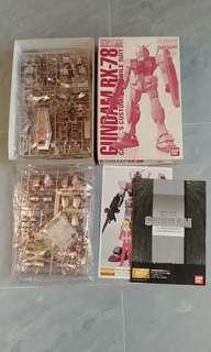 Bandai MG 99' 會場限定 電鍍 絶版 馬莎高達 自護之系譜 Casval Gundam RX-78/C.A