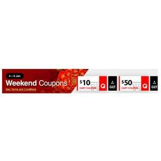 Free Qoo10 Weekend Discount Coupon $10 $50 4th-6th