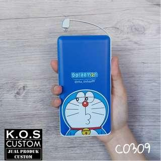 Custom Powerbank Veger 10.000mah Doraemon Anime