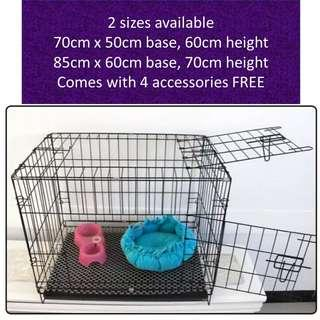 Pet Cage for cat kittens puppy dog, not scratch condo tree carrier food water kibbles