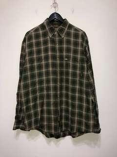 伏見古著 Timberland 綠格紋襯衫 vintage