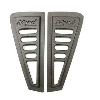 Myvi rear side 3D carbon window triangle mirror cover protector (RM35) (Come with double side tape)