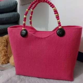 Pink Native Tote Bag (from Bicol)
