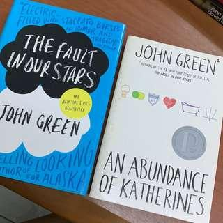 The Fault in Our Stars (hardbound) + An Abundance of Katherines by John Green