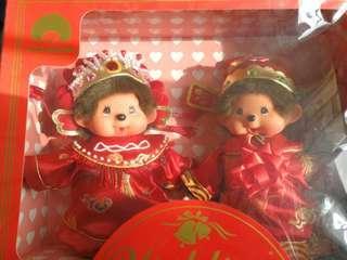 Monchhichi 中式結婚公仔