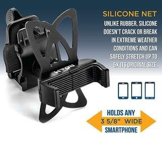 🆕🆒 🆕 Phone Cradle Mount For bicycle, Motorcycle, E Bike 🚴And Scooter! Many Uses Safe And Secure Mobile Grip!  ✔Made of ABS, Not Cheap Plastic, Same Material Used In, LEGO® Bricks💪  ✔Adjustable Clamp 2 Settings - Can Clamp On Thick Handlebars!