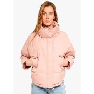 Puffer Jacket in Misty Rose
