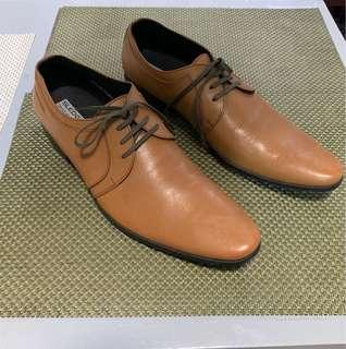 Sledgers Brown Leather Shoes