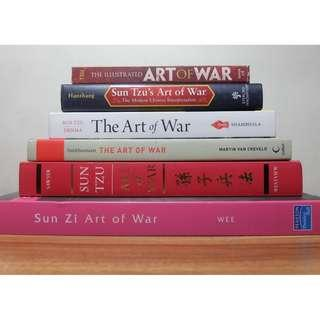 DECLUTTERING - BOOKS FOR SALE ( The Art of War Collection )
