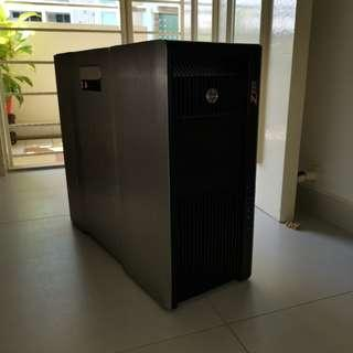 HP Z820 Gaming Professional Workstation, Dual E5-2695v2, 128GB ECC Registered RAM, 960GB Samsung SM863 Enterprise SSD, AMD Radeon Vega 56, Windows 10 Professional