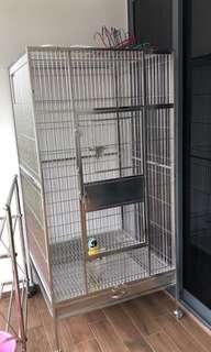 Parrot cage for sale (stainless steel)