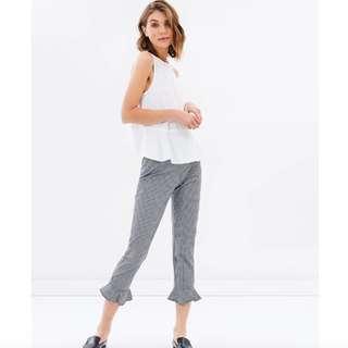 100% Cotton Ruffle Hem Pants