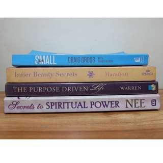 DECLUTTERING - BOOKS FOR SALE ( RELIGIOUS/ SPIRITUAL )
