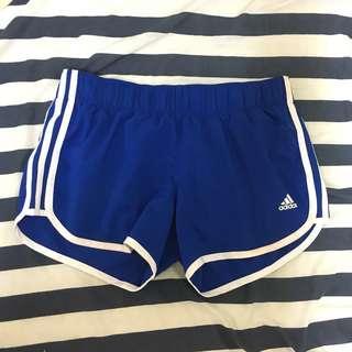 Adidas 愛迪達 運動短褲 寶藍色