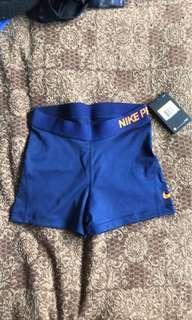 Nike Pro navy training shorts