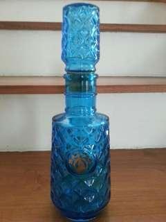 Vintage Martell Blue liquor Bottle