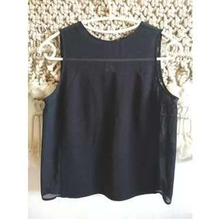 Black Cutout Top