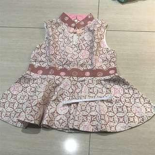 Batik pink putih 2-3 years