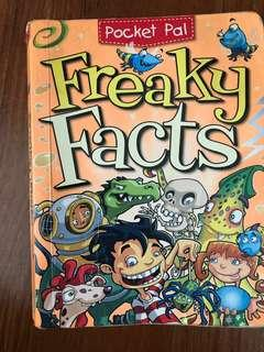 Pocket sized Freaky Facts book