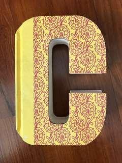 Letter C Blank Journal