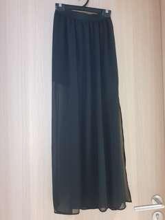 H&M Black Mesh Maxi Skirt
