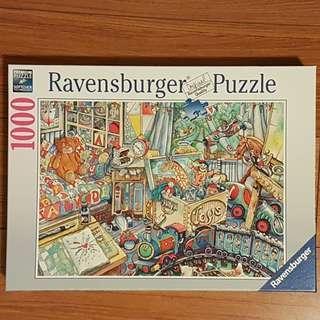 🚚 Ravensburger 1000片拼圖 玩具屋#195213