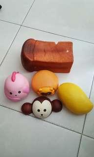 Squishies (25% defected but still usable) 5 pieces all for $12