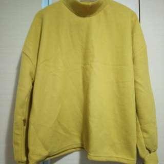 🚚 正韓 individual 黃色高領毛衣