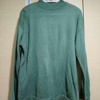 🚚 正韓 individual 綠色針織上衣