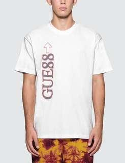 🚚 Authentic Guess x 88 Rising Gue88 Tri Logo Tee White