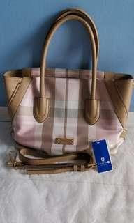 7d06a05fdc98 Burberry Blue Label Crestbridge Tote Bag