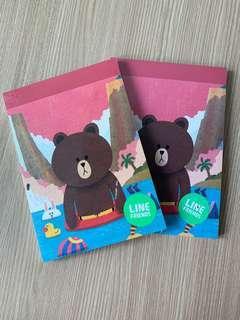 《新》兩本Line Friends 熊大 記事簿