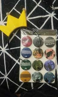 BIGBANG light scarf & button badge