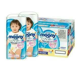 Japan Moony Girl Pant Diaper XL